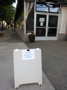 Women's Shelter posted sign[1]
